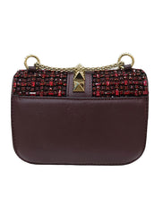 FLAP BEADED GLAM LOCK SHOULDER BAG