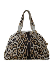 LEOPARD PRINT CALF HAIR LEATHER MUSE BAG