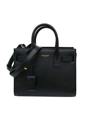 SAC DE JOUR TOTE LEATHER TOP HANDLE BAG