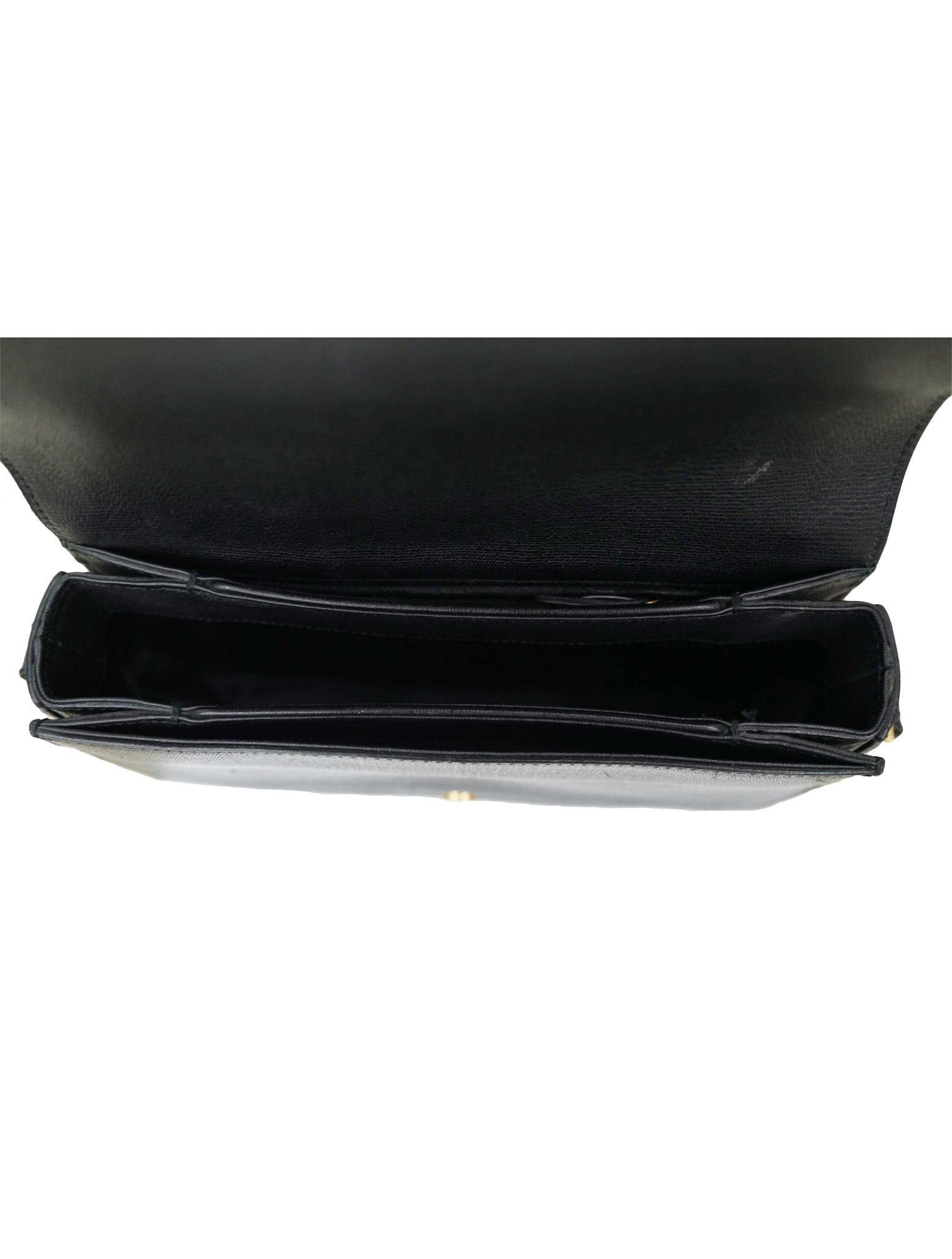 BLACK LEATHER CHYC SHOULDER BAG