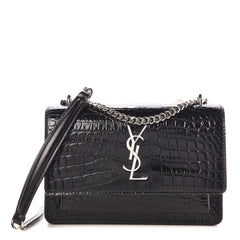 CROCODILE EMBOSSED SUNSET BAG