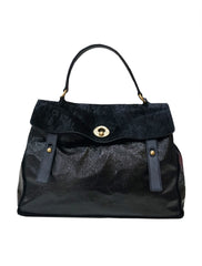 BLACK PATENT LARGE MUSE TWO TOTE - kidsstyleforless