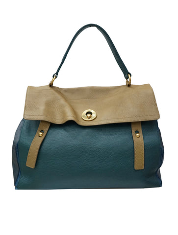 TRICOLOR CALF LEATHER LARGE MUSE BAG