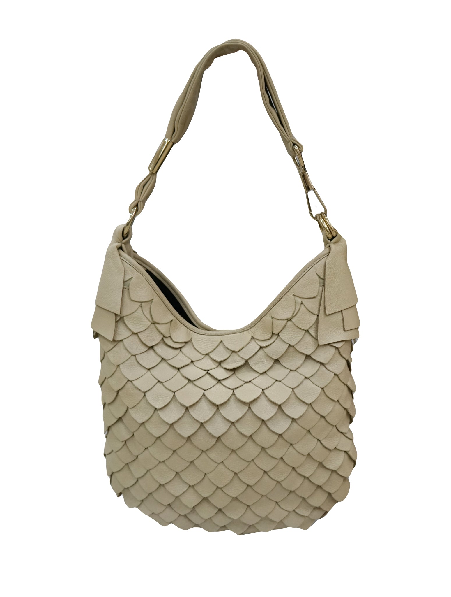 YVES SAINT LAURENT TROPEZ FISH SCALE LEATHER BAG – Kidsstyleforless 6adb4c553a
