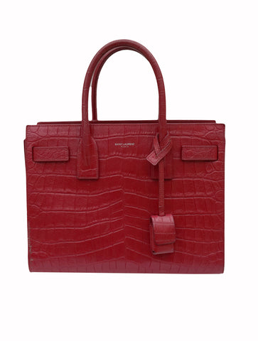 CROCODILE EMBOSSED BABY SAC DE JOUR BAG