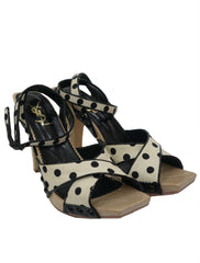 LOLITA POLKA DOT WOODEN SANDALS
