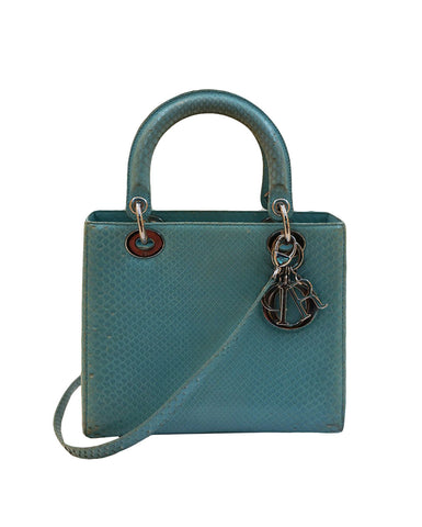 PYTHON LEATHER MEDIUM LADY DIOR BAG