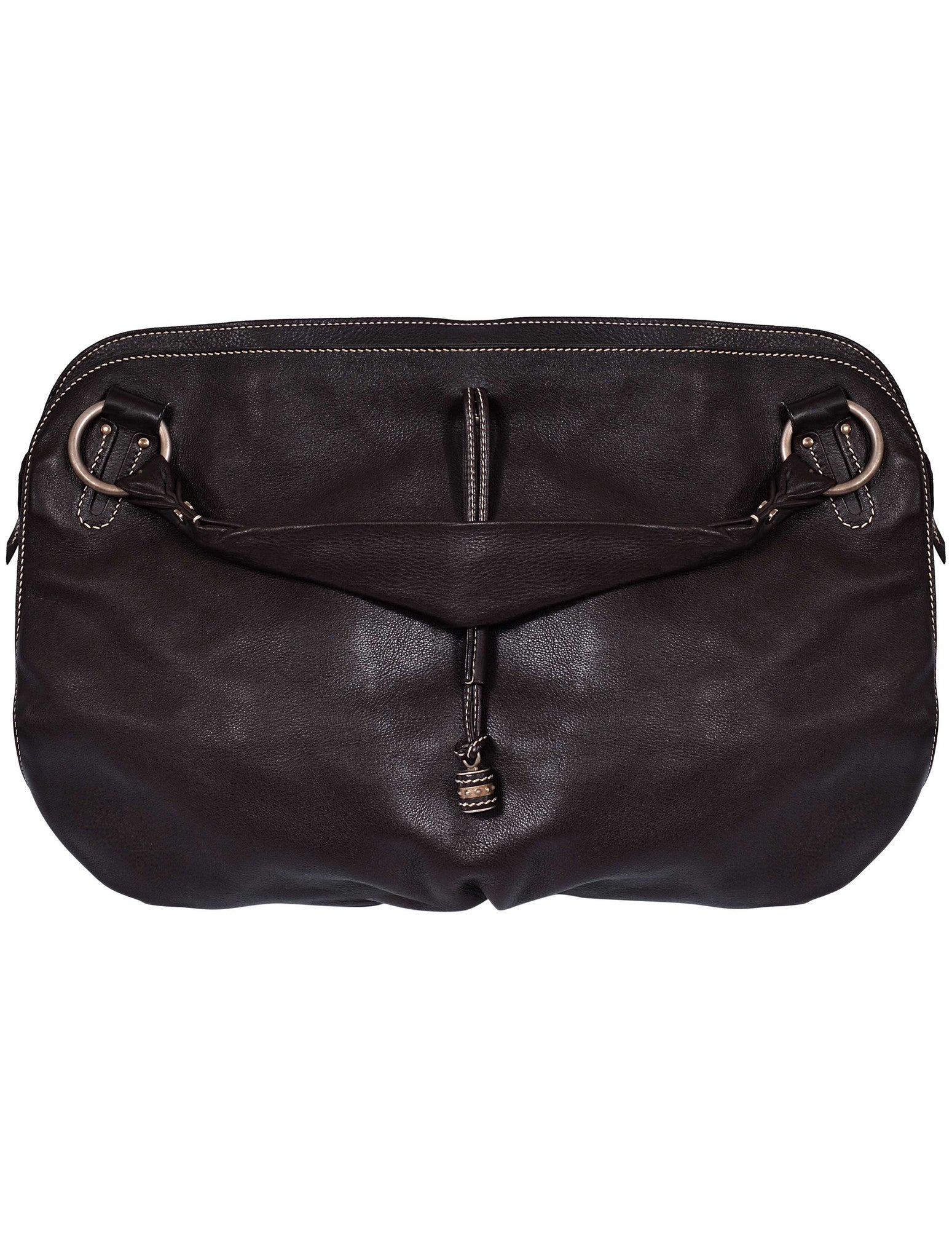 LARGE LEATHER HOBO