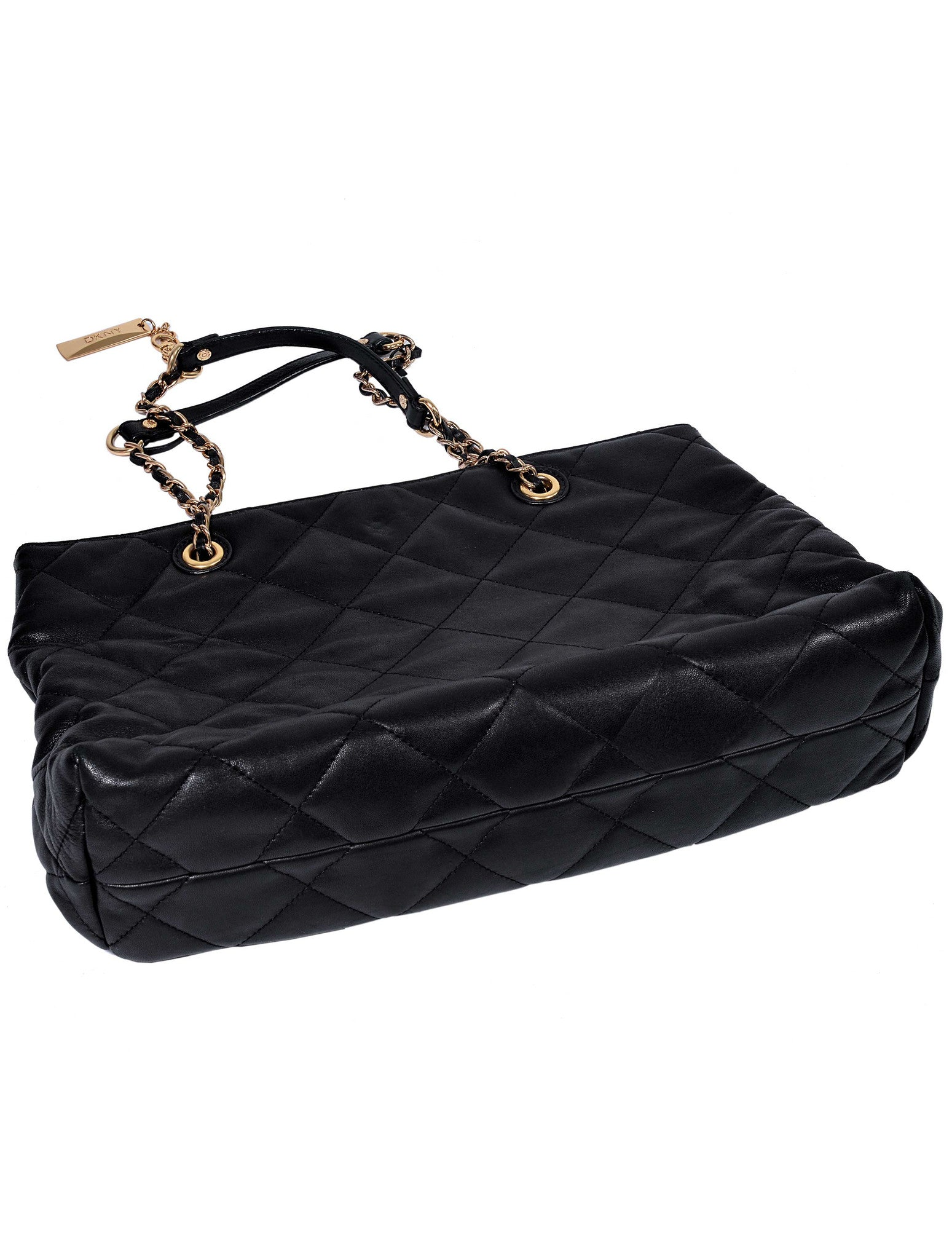QUILTED LEATHER HANDY BAG