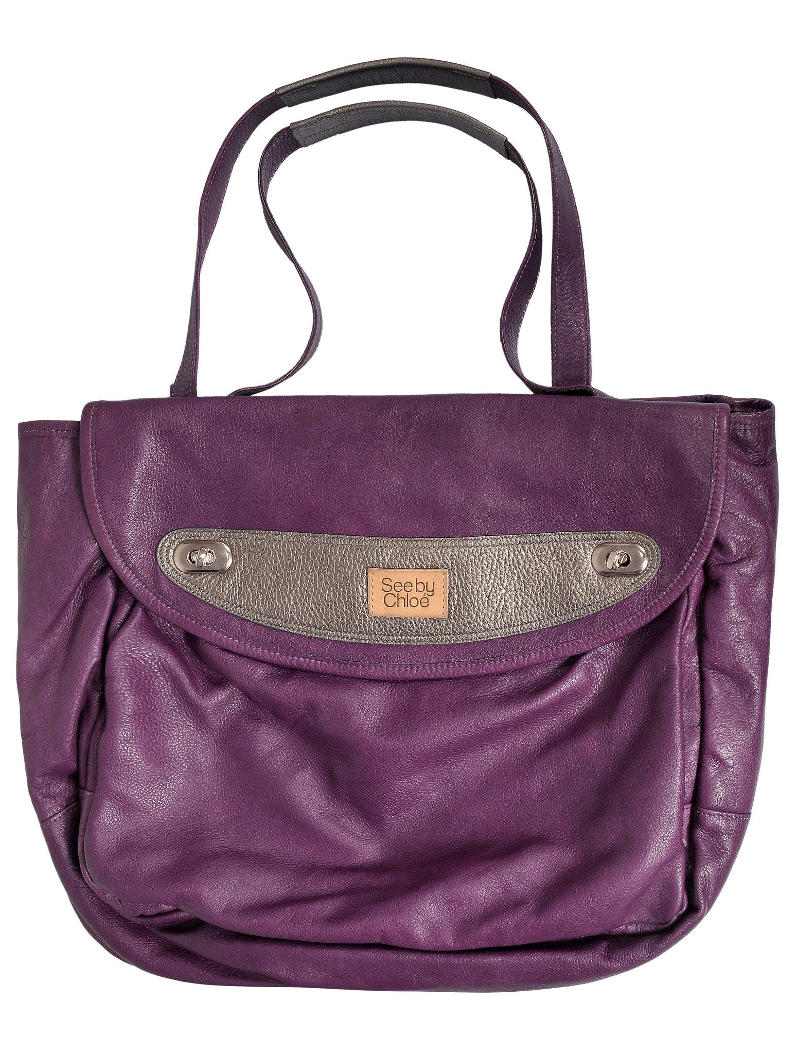 LEATHER SHOULDER TOTE BAG