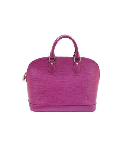 MAGENTA EPI LEATHER ALMA MM BAG