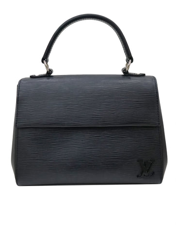 BLACK EPI LEATHER CLUNY BAG