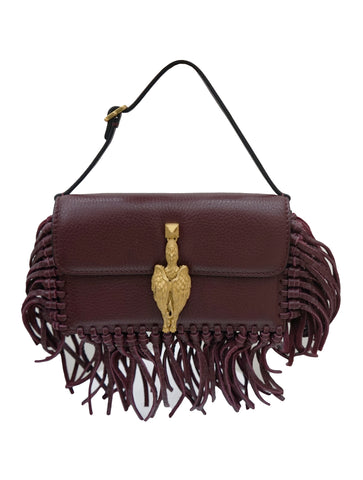 FRINGE GRIFFIN HANDBAG CLUTCH