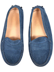 NAVY SUEDE MOCCASSIN SHOES