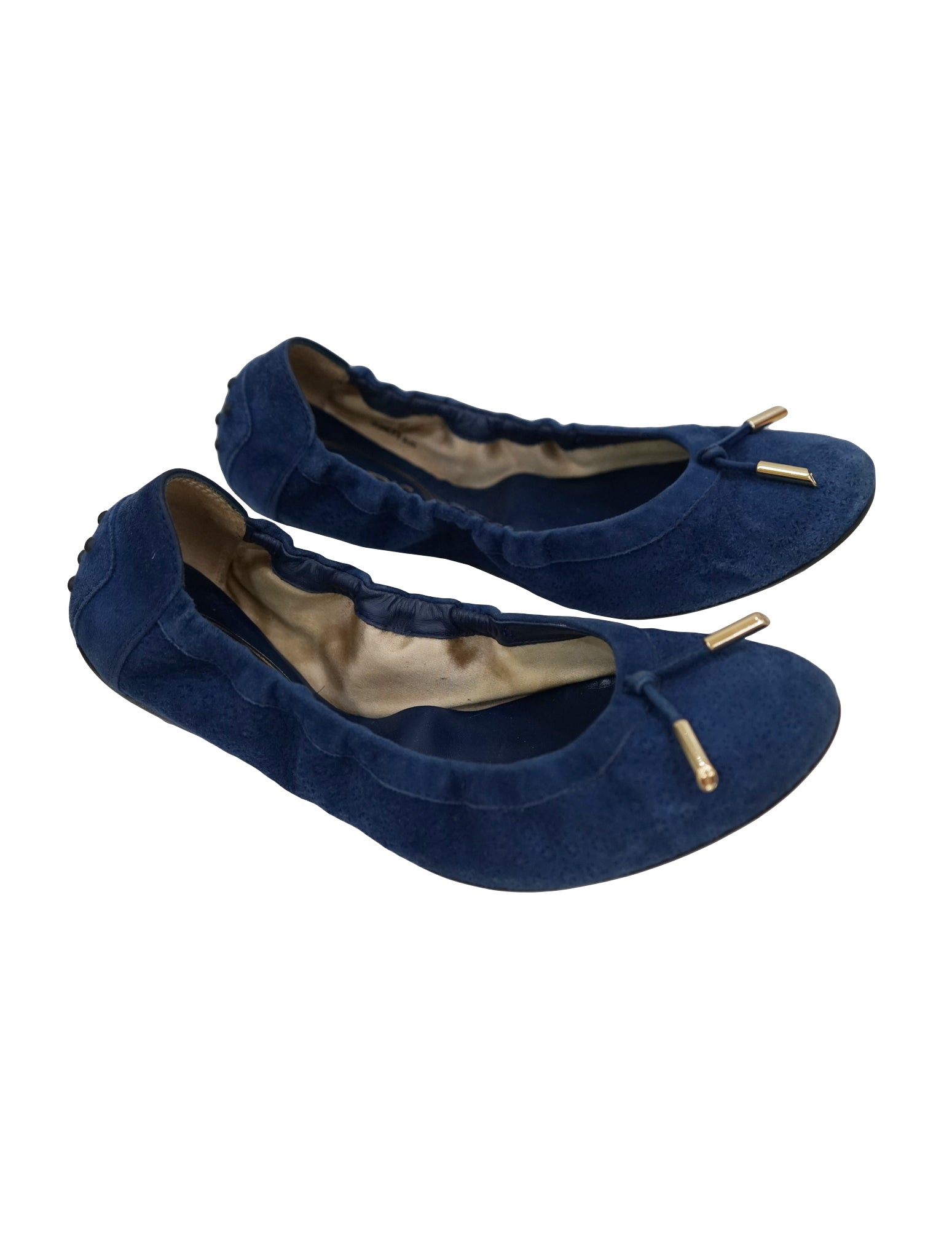 SUEDE BLUE LEATHER BALLERINA