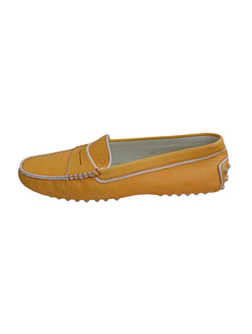 CANARY LEATHER MOCCASIN SHOES