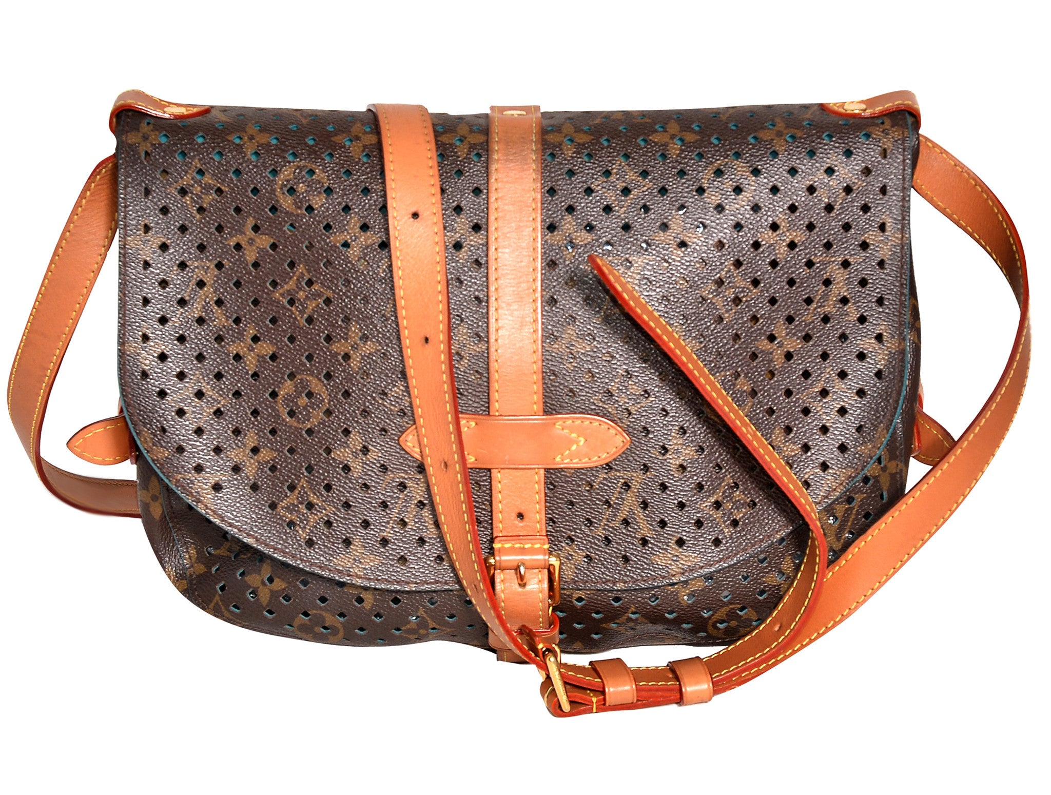 MONOGRAM PERFORATED LEATHER BAG
