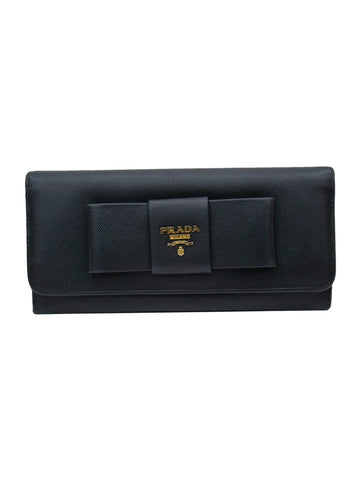SAFFIANO LEATHER BOW CONTINENTAL WALLET
