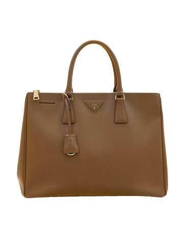 SAFFIANO LUX LEATHER DOUBLE ZIP TOTE