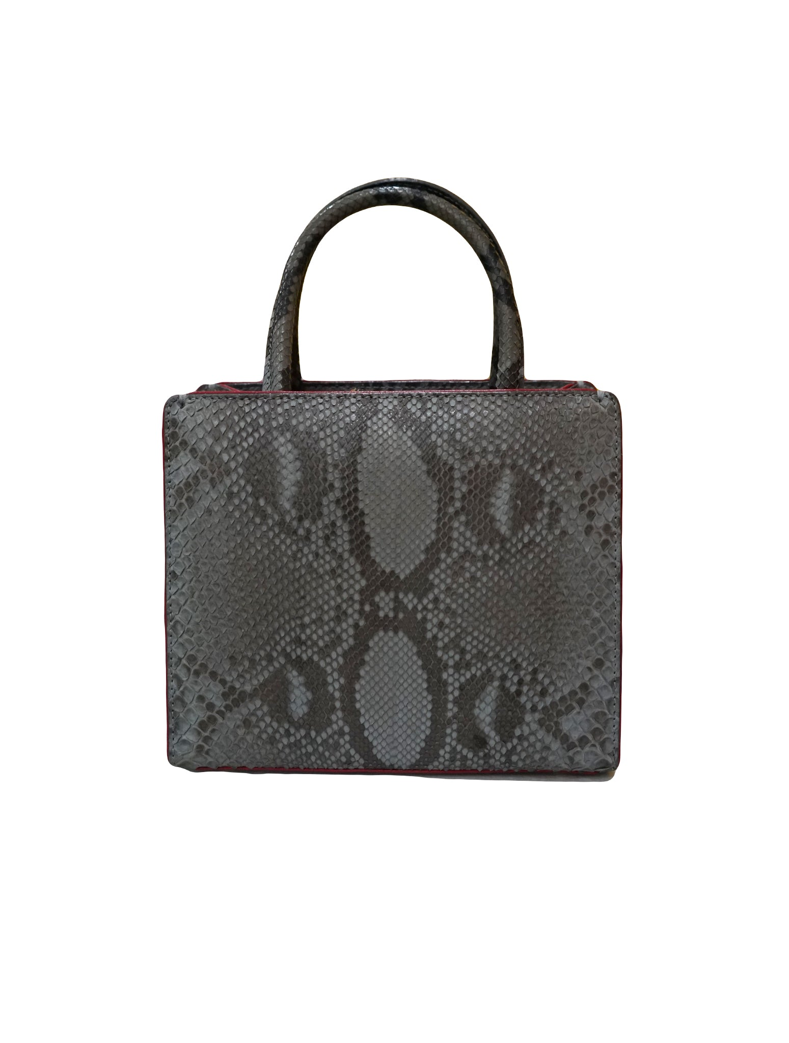 PYTHON MINI SWEET BOX SATCHEL BAG