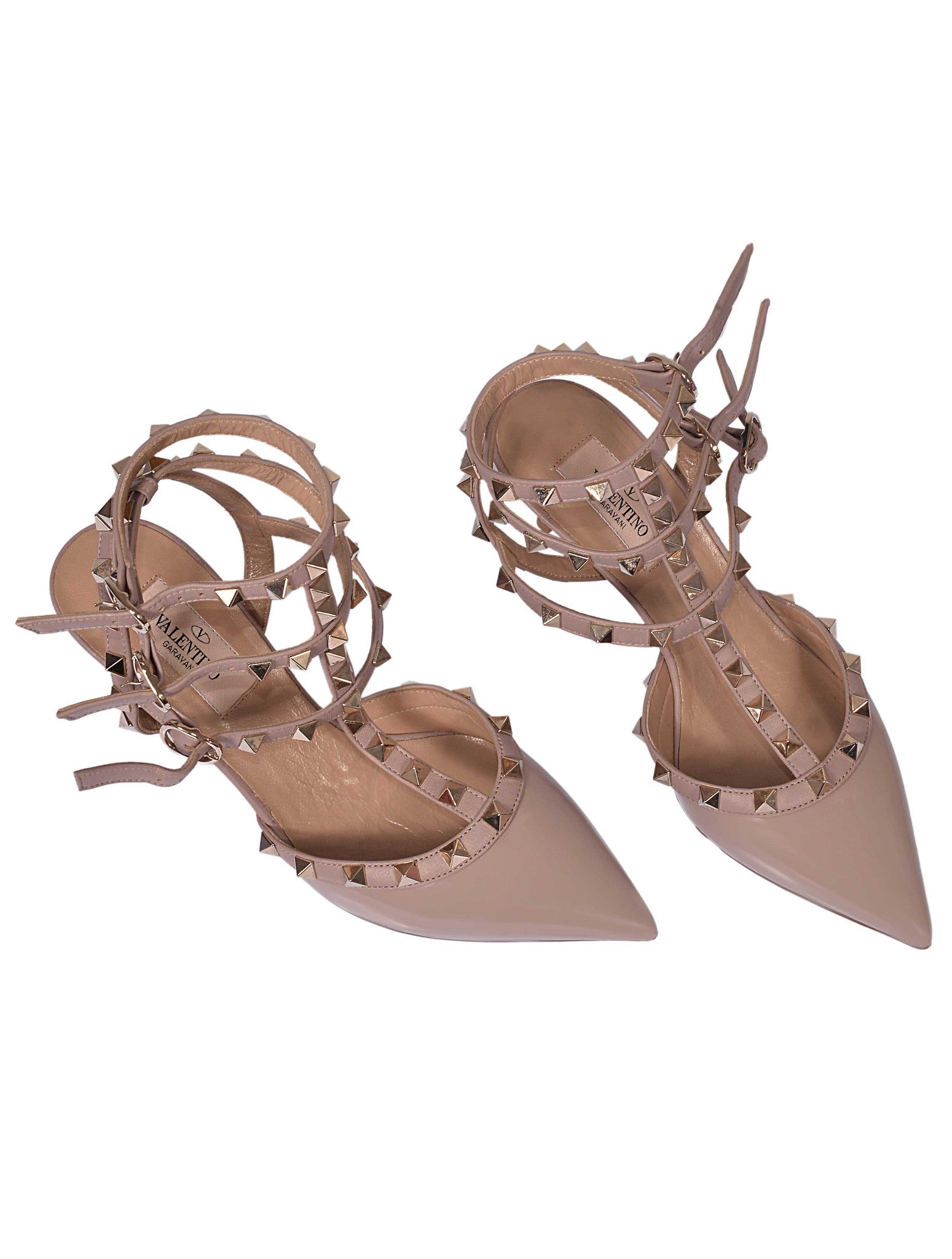 ROCKSTUD ANKLE STRAP WOMAN SANDALS