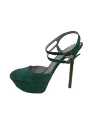SERGIO ROSSI GREEN  STRAPPY  PLATFORM  SANDALS