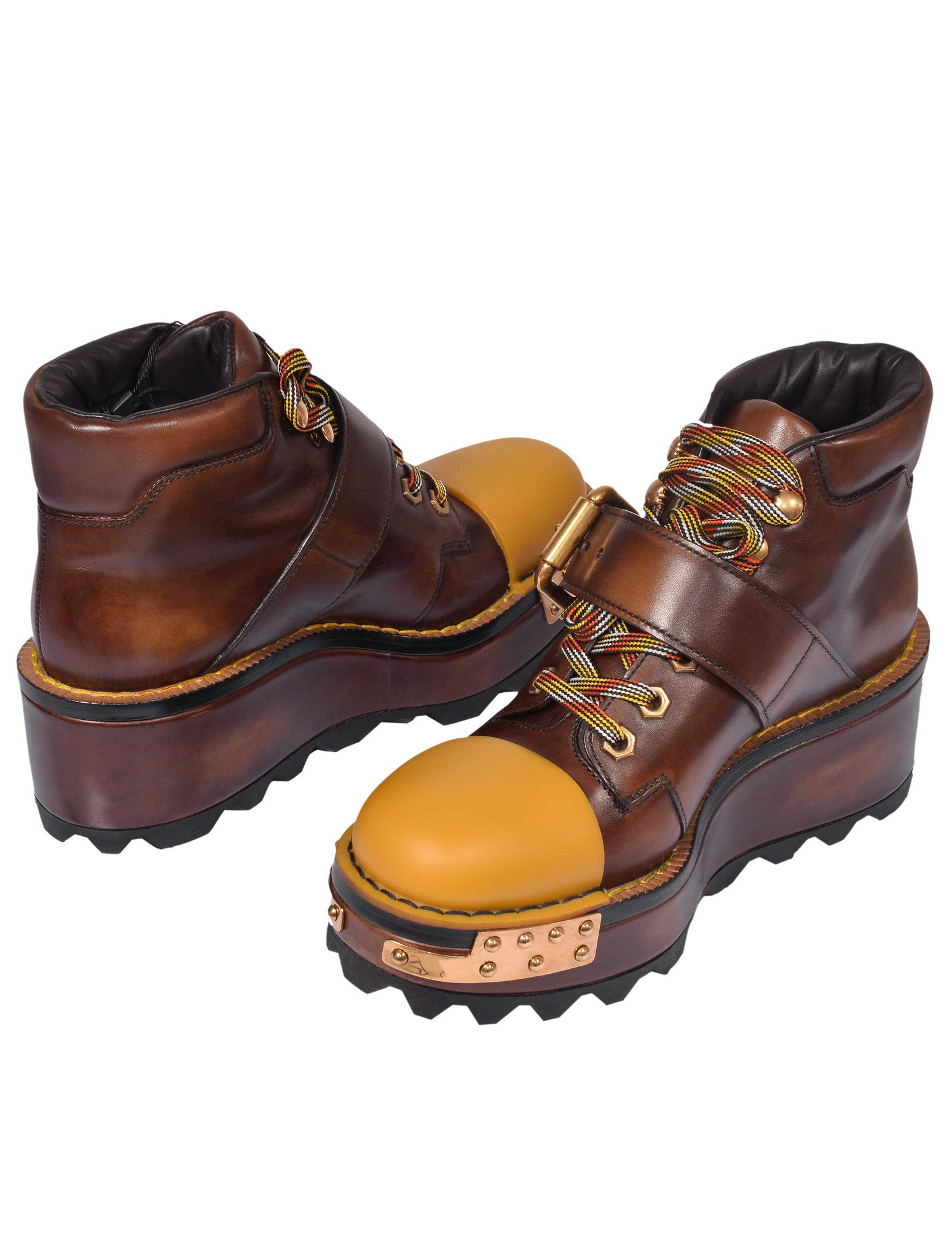 WOMENS CAP-TOE PLATFORM HIKING BOOTS