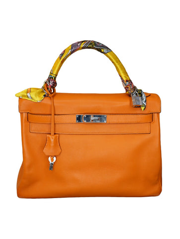 ORANGE TOGO LEATHER KELLY 32 BAG
