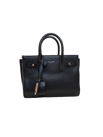 BLACK SOFT LEATHER NANO SAC DE JOUR