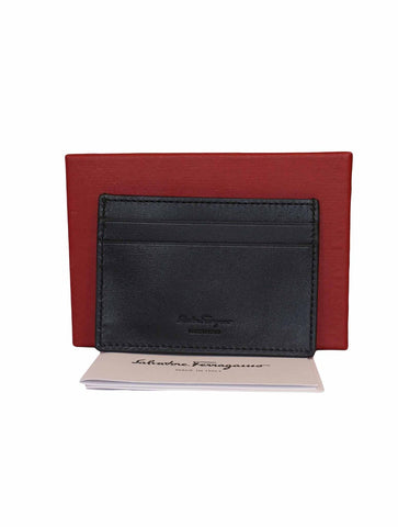 BLACK CALF GANCINI CARD HOLDER