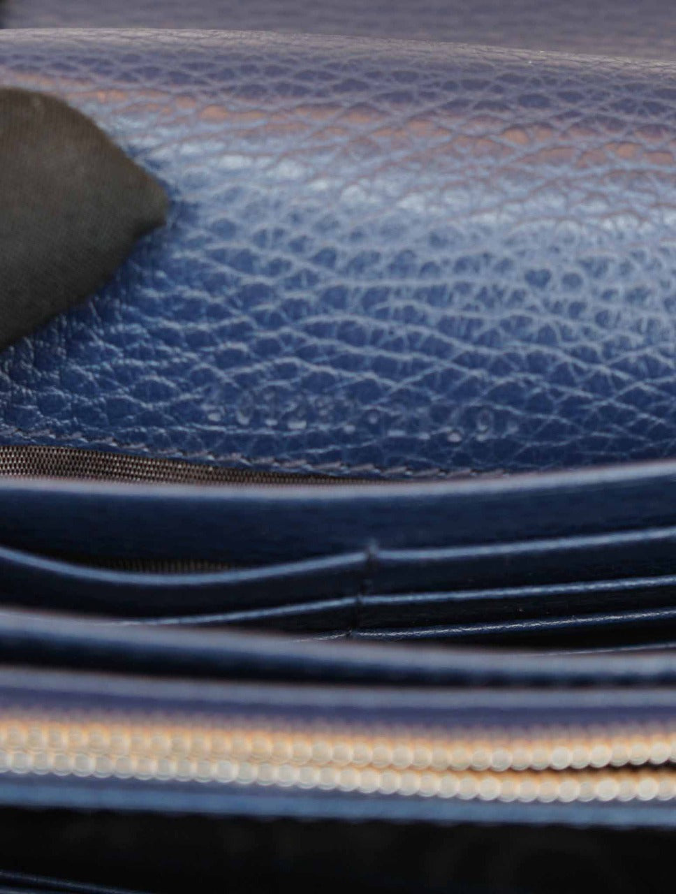 DARK BLUE LEATHER MINI DIONYSUS CHAIN WALLET