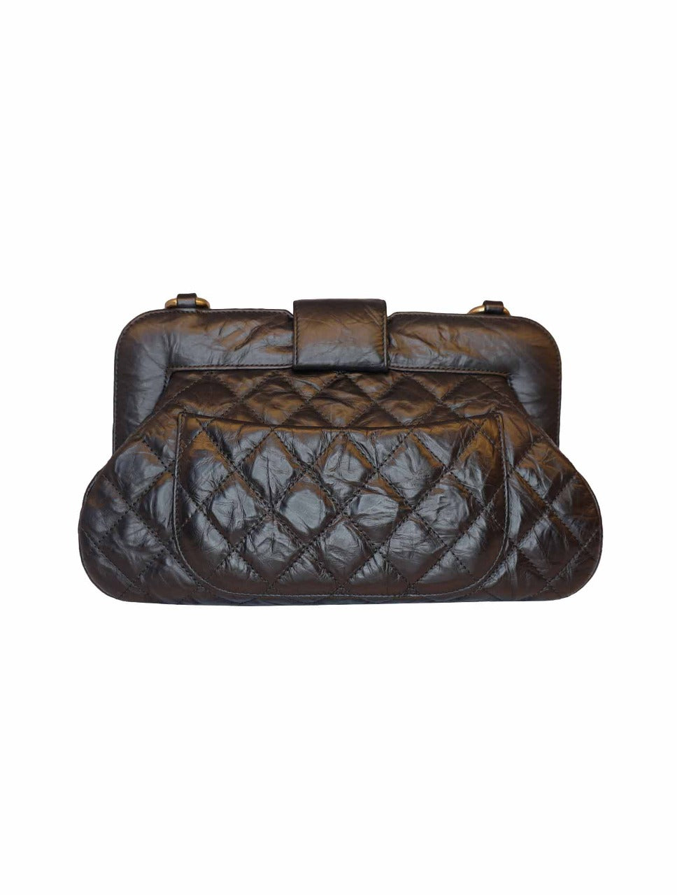 BLACK CALFSKIN LEATHER CHIC QUILT HOBO BAG
