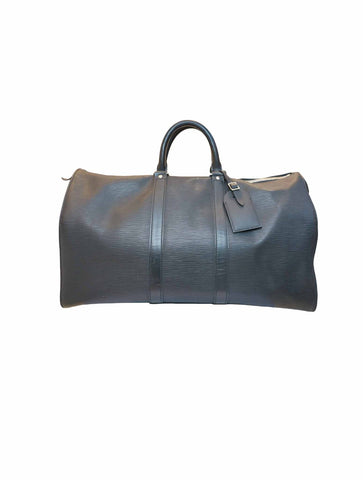 BLACK EPI LEATHER KEEPALL 45 BAG