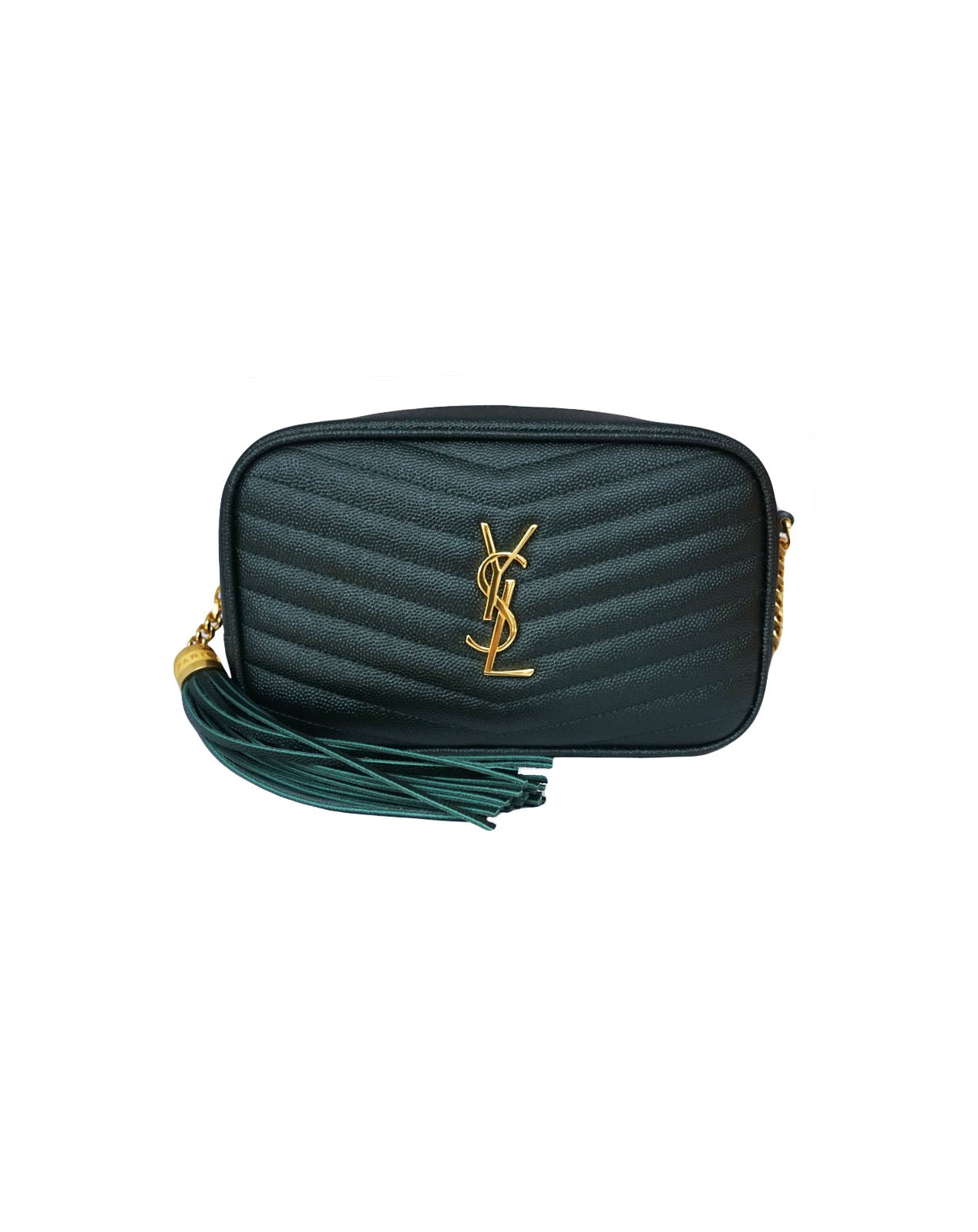 MINI DARK GREEN LOU CAMERA BAG
