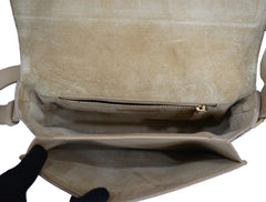 BEIGE LEATHER CHYC FLAP BAG