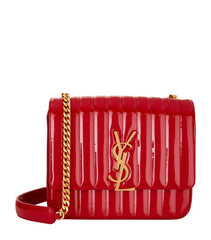 VICKY PATENT LEATHER WALLET ON CHAIN