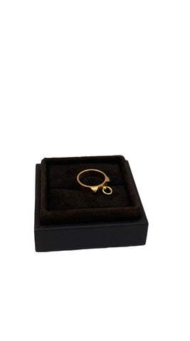 18K YELLOW GOLD COLLIER DE CHIEN RING