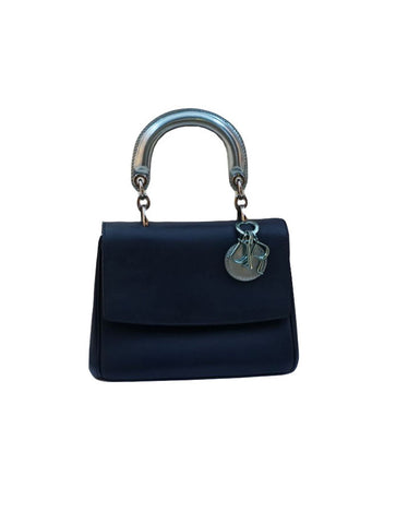 METALLIC BLUE LEATHER MINI BE DIOR BAG