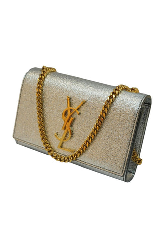 METALLIC CALFSKIN MINI CLASSIC MONOGRAM KATE SHOULDER BAG