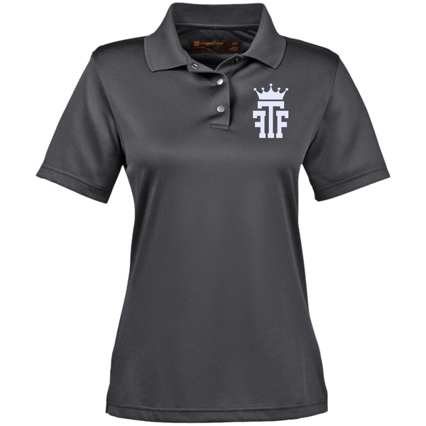 FTF Logo Ladies Snap Placket Performance Polo - Fear The Fighter