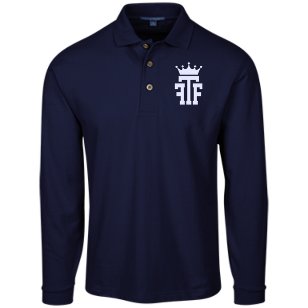 FTF Logo Long Sleeve Pique Knit Polo - Fear The Fighter