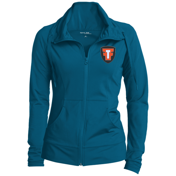 FTF Logo Womens  Stretch Full-Zip Jacket - Fear The Fighter