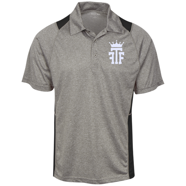 FTF Logo Heather Moisture Wicking Polo - Fear The Fighter