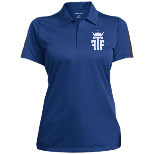 FTF Logo Ladies Performance Textured Three-Button Polo - Fear The Fighter