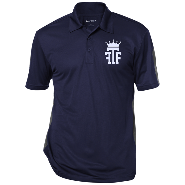 FTF Logo Performance Textured Three-Button Polo - Fear The Fighter