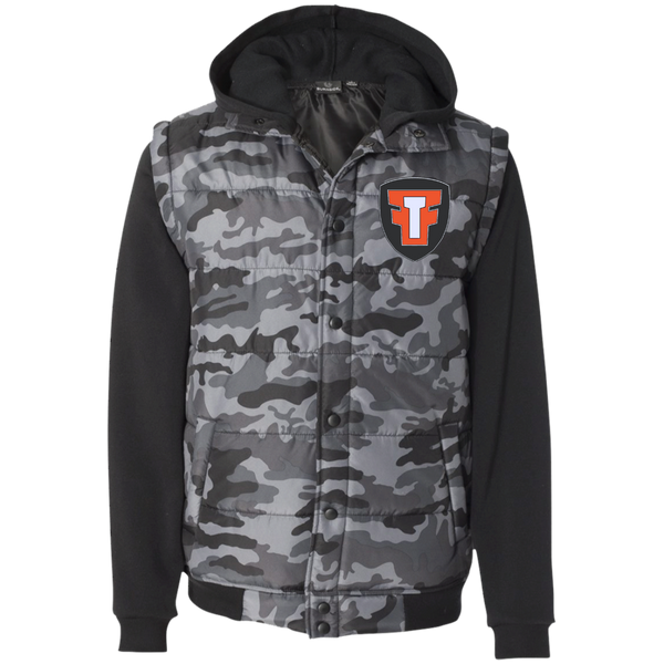 FTF Logo Nylon Vest with Fleece Sleeves - Fear The Fighter