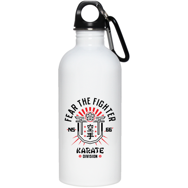 FTF Karate Stainless Steel Water Bottle 20 oz - Fear The Fighter