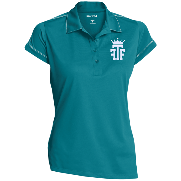 FTF Logo Ladies Contrast Stitch Performance Polo - Fear The Fighter
