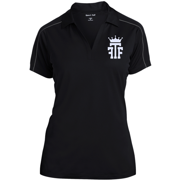 FTF Logo Ladies Micropique Sport-Wick Piped Polo - Fear The Fighter
