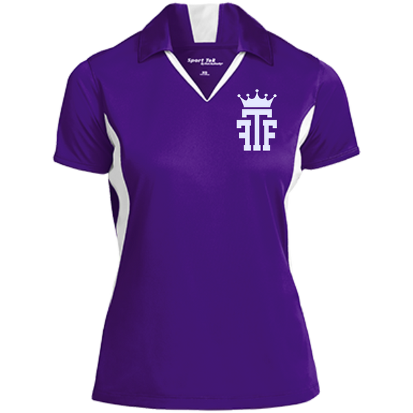FTF Logo Ladies Colorblock Performance Polo - Fear The Fighter